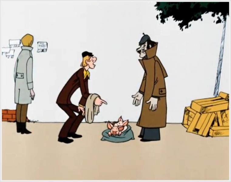 """Двойник Печкина из """"Простоквашино"""" засветился в криминальном мультике из СССР. Кажется, эта роль ему шла больше"""