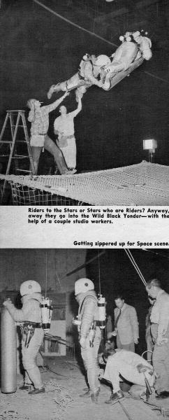 Забавные кадры со съёмочных площадок фантастических фильмов 50-60-х