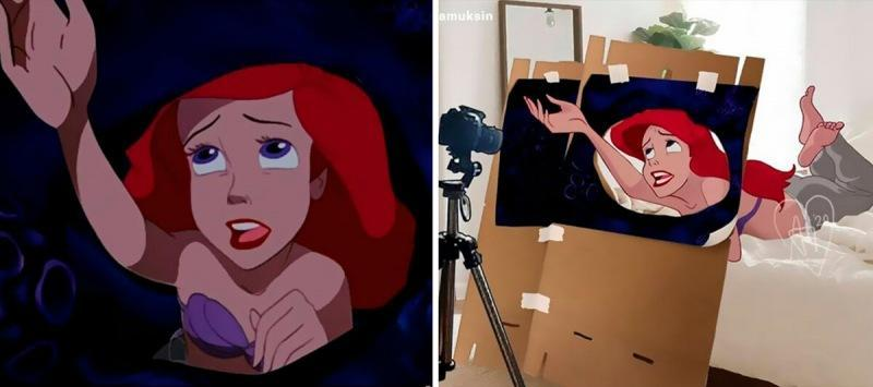 Что, если бы знаменитые сцены из мультфильмов Disney снимались в реальной жизни?