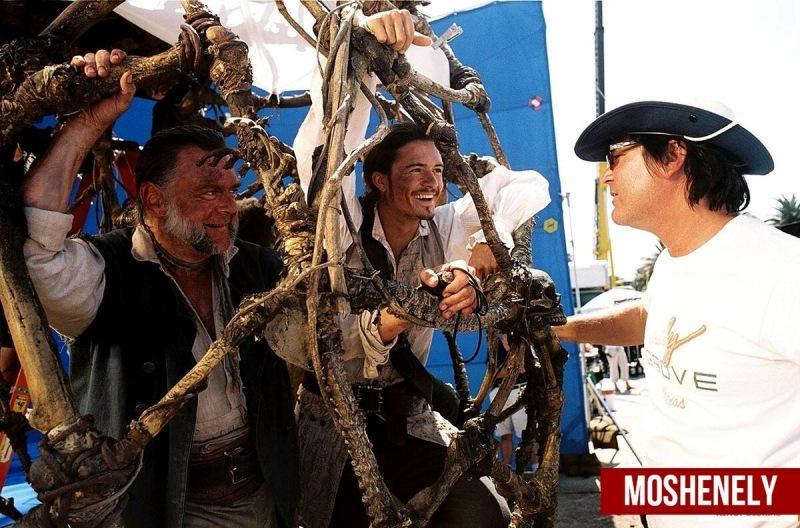 Топ 9 интересных кадров со съемок легендарной серии фильмов Пираты Карибского моря
