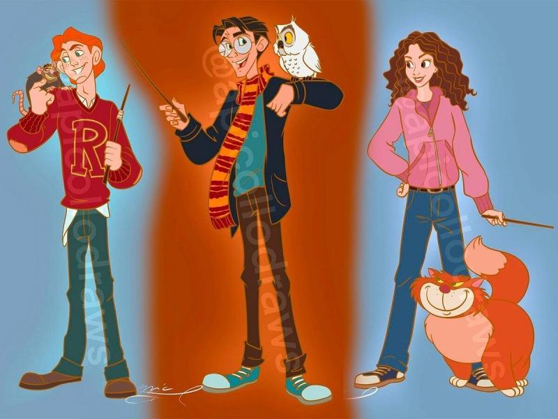 Как персонажи Disney выглядели бы в образах героев «Гарри Поттера»?